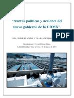 Nuevas Políticas y Acciones Del Nuevo Gobierno de La CDMX (1)