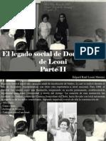 Edgard Raúl Leoni Moreno - El Legado Social de Doña Menca de Leoni, Parte II