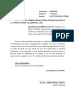 Justificacion de Firma Deposito Aliaga Lozano