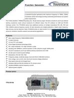 Twintex Datasheet DDS Fucntion Generator 201612