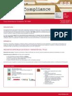Curso Universitario en Compliance. ISO 19600