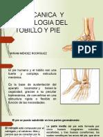 Biomecanica Tobillo y Pie