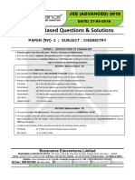 JEE Advanced 2019 Paper-2 Chemistry
