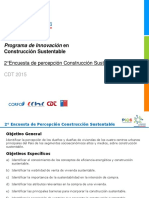 PICS.segunda Encuesta Percepción Construcción Sustentable CDT 2015.