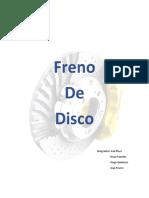 Freno Disco y Espesor Disco