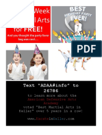Karate Birthday Flier