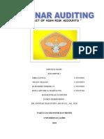 Makalah Audit of High Risk Accounts Kelompok 3 (2)