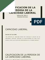 Calificacion de La Perdida de La Capacidad Laboral