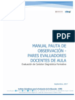 Manual de Pauta de Observacion Docente de Aula ECDF