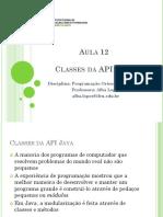 Aula 12 - Classes Da API Java