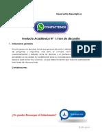 Álgebra Matricial y Geometría Analítica Producto Académico N°1