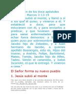 1. Elección de Los Doce Apóstoles