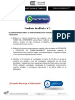 Técnicas de Modificación de Conducta Producto Académico N°1