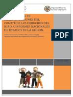 Recomendaciones del Comite de los Derechos del Niño a los Informes Nacionales de los Estados