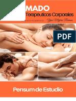 Pensum Diplomado de Masoterapia Terapeutica Corporal