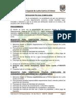 Requisitos Verificación Policial Domiciliaria