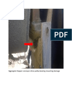 Aggregate  Conveyor Drive Pulley Bearing Mounting Damage