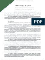 Instrução Normativa Nº 77, De 26 de Novembro de 2018