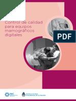 Manual Control Calidad Para Equipos Mamograficos Digitales