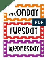 Dias de La Semana