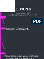 "Republic Act 7877 ""Anti-Sexual Harassment act of 1995"""
