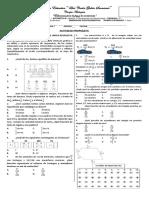 Examen Fracciones Suma y Resta