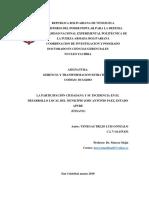 04 Luis Gonzalo Venegas t. - Ensayo - La Participación Ciudadana y Su Incidencia en El Desarrollo Local Del Municipio Jose Antonio Paez, Estado Apure