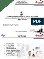Elaboracion Sistematica Del Plan Produccion Estimado Empresa Mixta Petromacareo