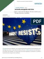 A Democracia Europeia Está Viva _ Opinião _ EL PAÍS Brasil