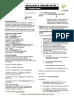 Apostila Gramática e Interpretação Semana 4 - Claudio Neves