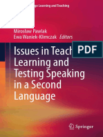 Ewa Waniek-Klimczak -- Issues in Teaching, Learning and Testing Speaking in a Second Language.pdf