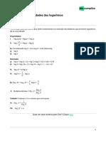 Extensivoenem Matemática1 Logarítmos_propriedades Dos Logarítmos 23-05-2019 1312896cc0b1fcb89e1871a42af1f181