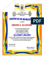Conduct Awards Certificate 2018