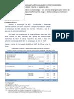 Lista de Questões Administração Planejamento e Controle de Obras Regime Especial