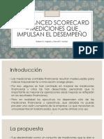 El Balanced Scorecard – Mediciones Que Impulsan El Desempeño