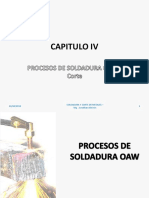 Capítulo IV Procesos de Soldadura OAW y Corte