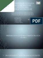 Restauraciones Clase i, II y III
