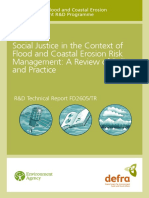 Social Justice in the Context of Flood and Coastal Erosion Risk Management a Review of Policy and Practice