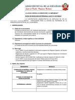 (01) Asistente Administrativo – Conciliador-Tesoreria 3
