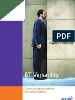 BT Versatility Owners Manual Rev 4