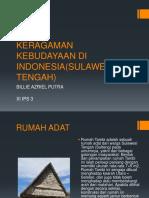 Keragaman Kebudayaan Di Indonesia(Sulawesi Tengah)