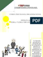Semana 8 - Clima Organizac.
