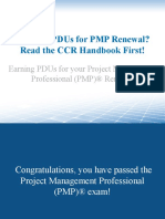 Need 60 PDUs for PMP Renewal? Read the CCR Handbook First!