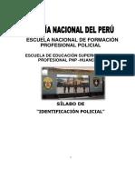 Syllabus Identificacion Policial