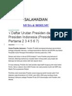 urutan presiden indonesia.docx