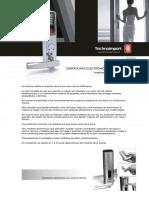 Cerraduras Electronicas y de Huellas Dactilares - Technoimport