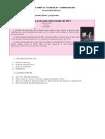 ENSAYO SIMCE Nº 3 LENGUAJE Y COMUNICACIÓN 4° año 27-05