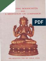 Activating Bodhichitta.the Awakening Mind & Meditation on Compassion.dalai Lama 14th