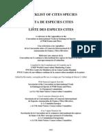 2003 Cites Checklist