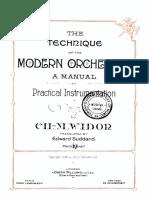 Widor Charles Marie Manual Practical Instrumentation